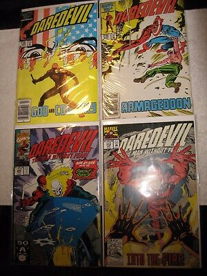 LOT OF FOUR DAREDEVIL MARVEL COMICS #'s 232/233/295/312 NO RESERVE