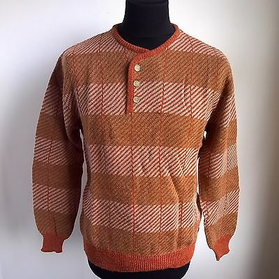 Brown 85% Acrylic Jumper Vintage Knit 1980's Vintage Levi Strauss Size Adult L