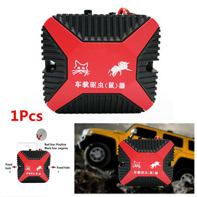 Portable Double Ultrasonic Car Engine Vehicle Mouse Chaser Monitor Rats Repeller