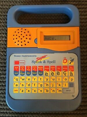 Vintage Texas Instruments Super Speak And Spell Toy fully working 1980