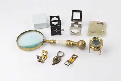 Collection of Vintage Magnifying Glasses MIXED Designs and Sizes Inc. Folding