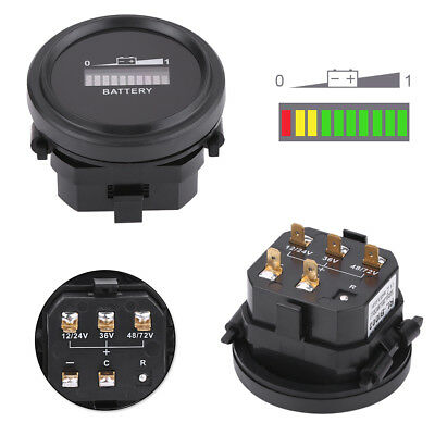 12/24/36/48/72V Batteria Indicatore LED Gauge Battery Indicator Per Golf Auto