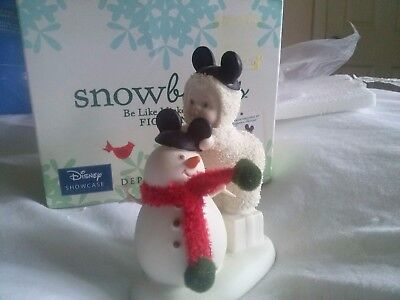 Snowbabies Be Like Mickey Too (Features a real knitted scarf) Disney boxed