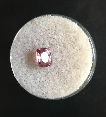 NATURAL 0.90ct Pink Red Spinel UNTREATED Cushion Cut Gem RARE
