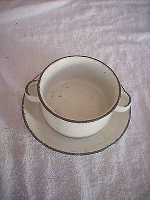 Midwinter Stonehenge Creation Soup Bowl With Saucer And Another Available