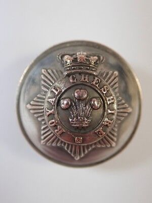 Royal Cheshire Militia original Victorian Officers Large Button.