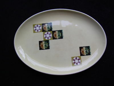 Pale Yellow Carlton Ware Oval Shaped Plate