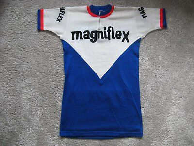 1973 Magniflex Embroidered Retro Vintage Cycling Jersey Maillot Maglia L` Eroica