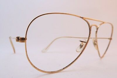 Vintage B&L Ray Ban aviator eyeglasses frames size 58-14 made in the USA