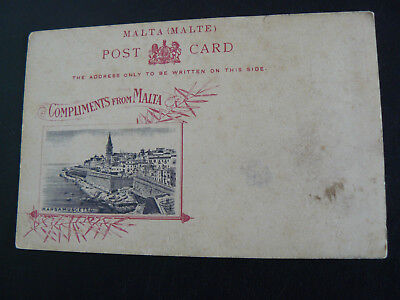 Compliments from Malta Postcard showing Marsamuscetto - blank on the back
