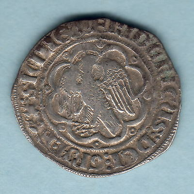 Italy - Sicily. (1355-77) Silver Pierreale.  Frederick The Simple..  aVF