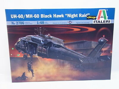 "LOT 46032  Italeri No 2706 ""MH-60 Black Hawk Night Raid"" 1:48 Bausatz NEU in OVP"