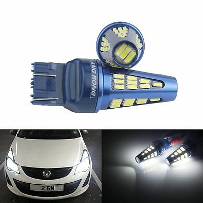 2x T20 7443 SMD 5W LED Side Indicator Daytime Light Opel Insignia CORSA D ASTRA