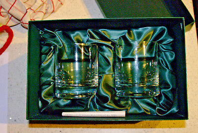 2 x Marks & Spencer ALSACE CRYSTAL TUMBLERS * Boxed & Unused * Rare *