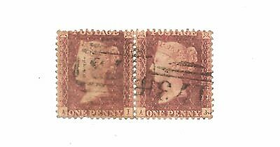 Queen Victoria  Pair Penny Reds Used