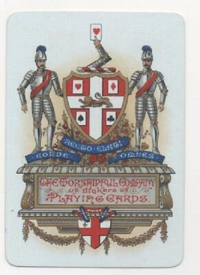 1 X Rare English Wide 1891 Worshipful Company of Makers of Playing Cards