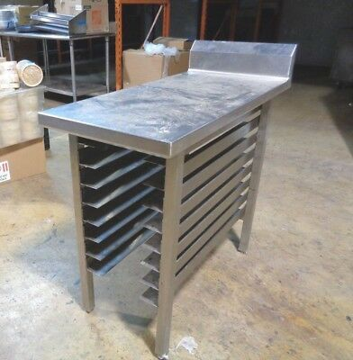"""Commercial Kitchen Stainless Steel Food Prep Work Table Bakers Racks 42"""" x 19"""""""