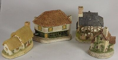 Collection of 1980s David Winter Buildings, Old Curiosity Shop & Cottages