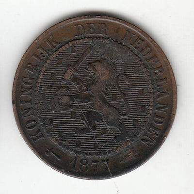 Holland 21/2 Cents 1877 Scarce        51A      By Coinmountain