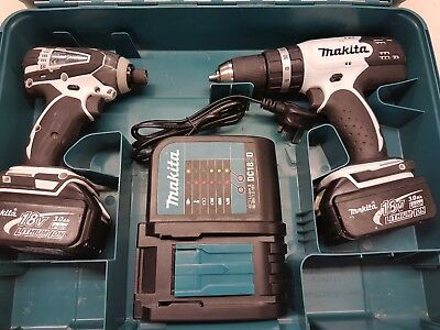 Makita Lxt 18V Cordless Impact Driver And Combi Drill Tool Set