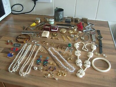 Job Lot Of House Clearance Collectables Curios & Jewellery Inc. Silver & Gold