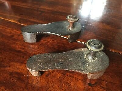 Antique Wooden Chinese  Children's Shoes