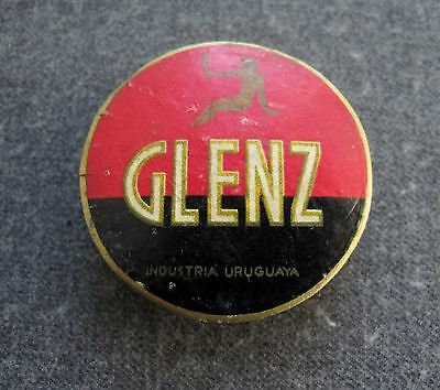 Vintage Woman With A Mirror Glenz Miniature Powder Box
