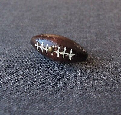 Vintage Painted Wooden Football Ball Shaped Button