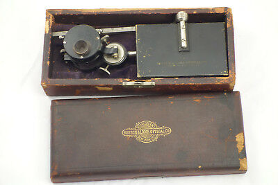 Antique 19th Century Bausch & Lomb Optical Co Camera Lucida Microscope