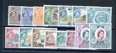 Cyprus  1955  Definitive  Set (15)    unmounted MINT (O1170)