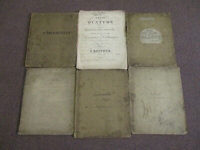 6 x Vintage Violoncello Music Books