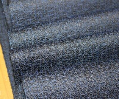 Vintage Japanese Solid Indigo Wool Mix Unused Kimono Panel Quilt Fabric 20 FEET