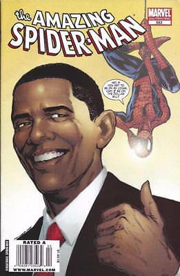 OBAMA ON MARVEL SPIDERMAN COMIC BOOK - #583, March 2009 - Mint Condition