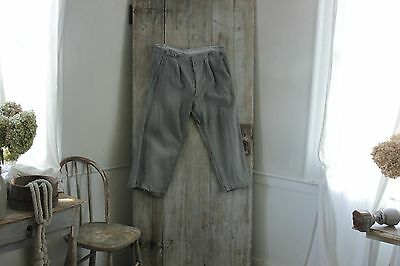 Work wear clothes pants Trousers Antique French chore wear TIMEWORN for repair