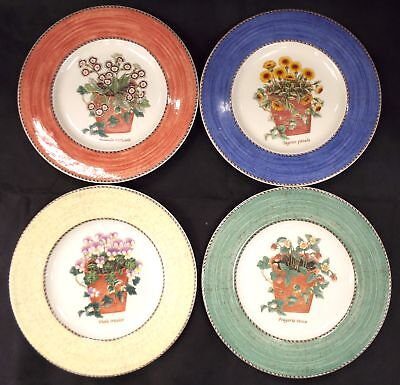 WEDGWOOD Sarahs Garden Queensware Set Of 4 Plates Unused Made In England - L05