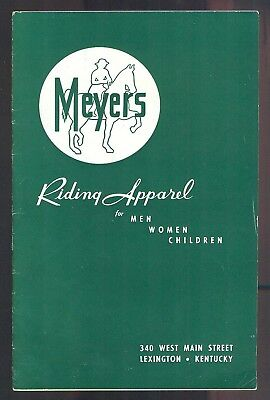 1950s MEYERS Equestrian Riding Apparel For Men Women Children Catalog LEVI'S wow