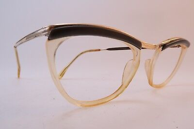Vintage 50s eyeglasses frames gold filled Doublé Or Laminé ESSEL made in France