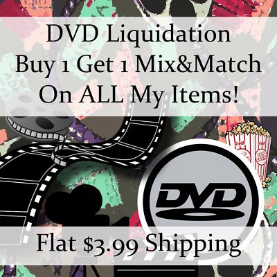 New Movie DVD Liquidation Sale ** Titles: S-S #616 ** Buy 1 Get 1 flat ship fee