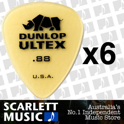 6 x Jim Dunlop Standard Ultex .88mm Picks Plectrums 88-ULT 421R *SIX PICKS*