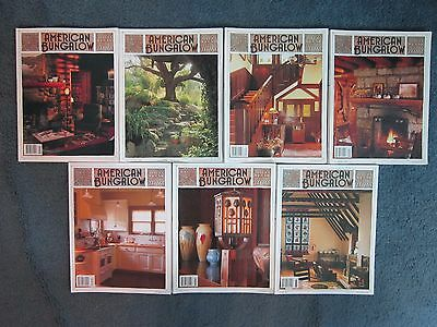 Lot Of 7 American Bungalow Magazines Furniture Restoration Home Craft Projects