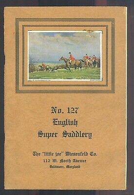 1943 The Little Joe Wiesenfeld Company English Super Saddlery Catalog No. 127