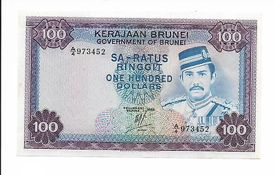 Brunei, Government of Brunei - 100 Ringgit , 1982. Choice Unc.