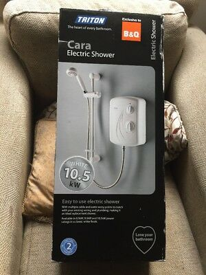 New Triton cara electric Shower 10.5kw white