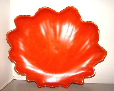 Catalina Island Pottery Toyon Red Large Shell Tray Bowl Dish