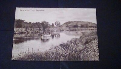 Carmarthenshire,x2 Rp postcards,Quay & River Towy,and Banks of the Towy.