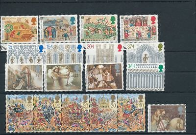 GB Christmas Middle Ages MNH (18 Stamps) Face Postage 4 Pounds AG1602s