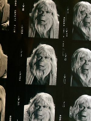 Planet Of The Apes TV Series Zaius Booth Colman Contact Sheet Photograph Copy