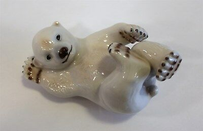 "Royal Copenhagen Porcelain Figurine #1020-537 ""Polar Bear Cub"" 6.25"" in Box"