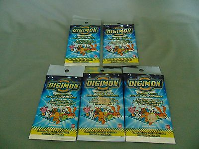Digimon Digital Monsters Animated Series X 5 Sealed Packs Cards Collector