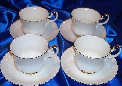 ROYAL ALBERT VAL D'OR Breakfast Cups And Saucers INDIVIDUALLY SOLD